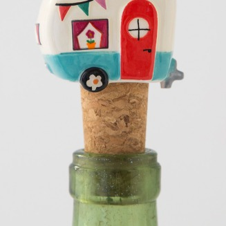 125:-Be Happy Camper Bottle Stopper