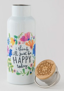 299:-Just Be Happy Today Traveler Bottle