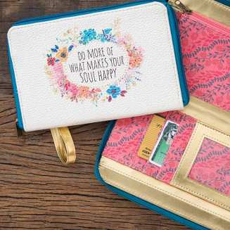449:-Do What Makes Your Soul Happy Zip Wristlet