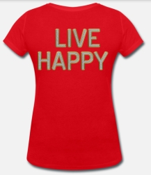 399:- LIVE HAPPY Lips Tee Storlek S M L XL 100% organic cotton