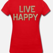 399:- LIVE HAPPY Lips Tee Storlek S M L XL 100% organic cotton