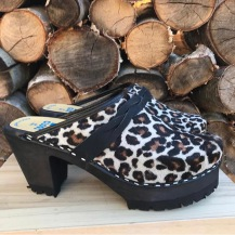 Leopard High Heel Mountain Clogs