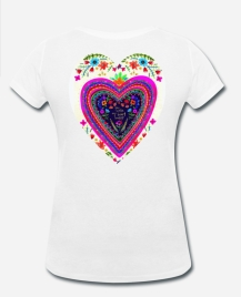 399:- Heart Tee size: S, M, L & XL (back)