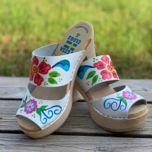 White Emma Ultimate High Clogs
