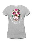399:- Grey Sugar skull tee