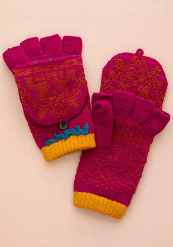 399:- Cerise gloves