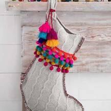 299:- Pom pom stocking