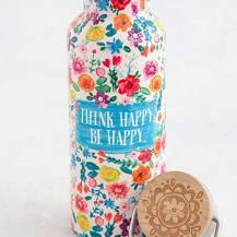 299:- Think Happy Be Happy Water bottle