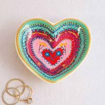 129:-Heart Trinket Dish Artisan Heart