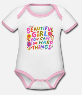 "259:-Babybody ""Beautiful girl"" 100% ekologisk bomull size: 62, 68 och 74"