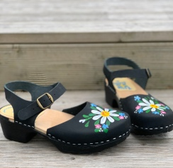 Black oil Malin Soft Clog sandal