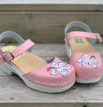 "Pink ""Live the Life you Love"" Soft Clog sandal"