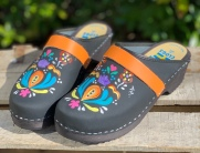 Black oil Astrid Clogs