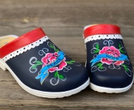 Red/Blue Lace Peace&Hope Soft Clogs