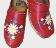 Red Malin Clogs