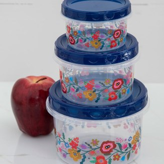 119:- Food containers blue set of 3