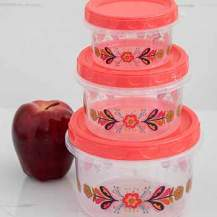 119:- Food containers red set of 3
