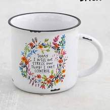 150:-Today I will not stress over the things I can't control Mug